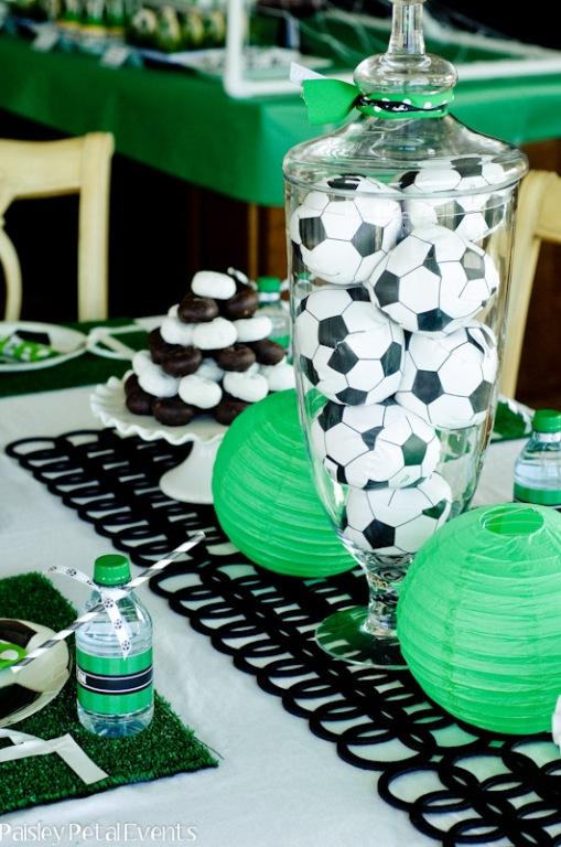 fotbalová dekorace